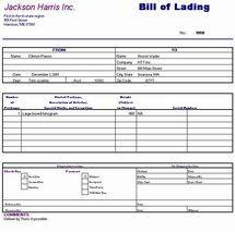 Ordinaire Piographics Bill Of Lading Sample